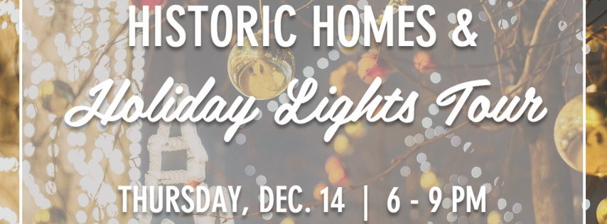 Historic Homes & Holiday Lights Bike Tour