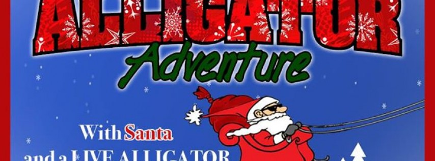 Free Photo with Santa and a Live Baby Alligator