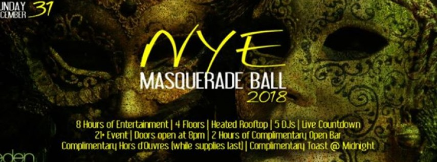 New Years Eve 2018 | 6th Annual Masquerade Ball