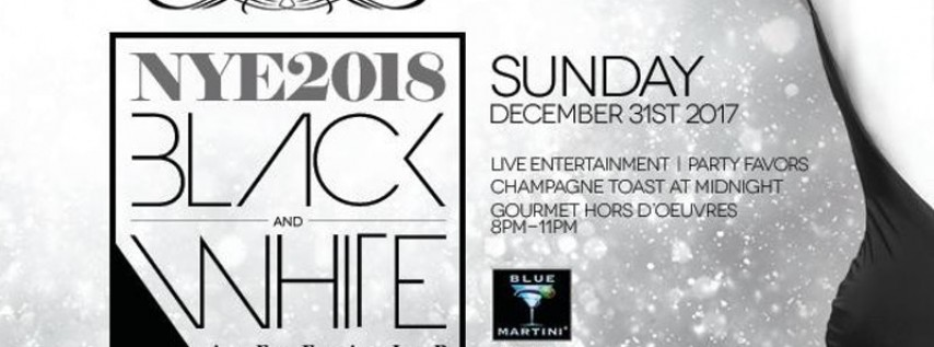 Blue Martini Kendall New Year's Eve 2018! Black & White Affair