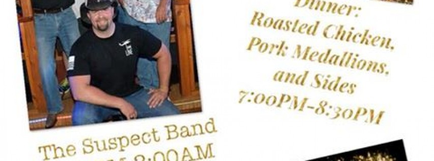 NEW YEARS EVE PARTY WITH THE SUSPECT BAND