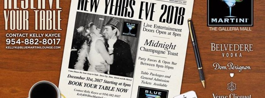 Blue Martini Presents New Year's Eve 2018!
