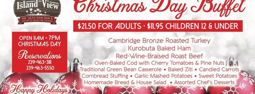 Christmas Day Buffet at the Island View
