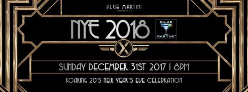 Blue Martini Gatsby New Year's Eve! 2018