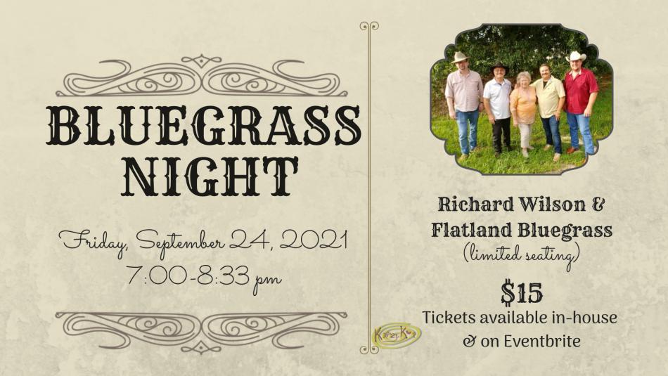 Bluegrass Night with Richard Wilson & Flatland Bluegrass