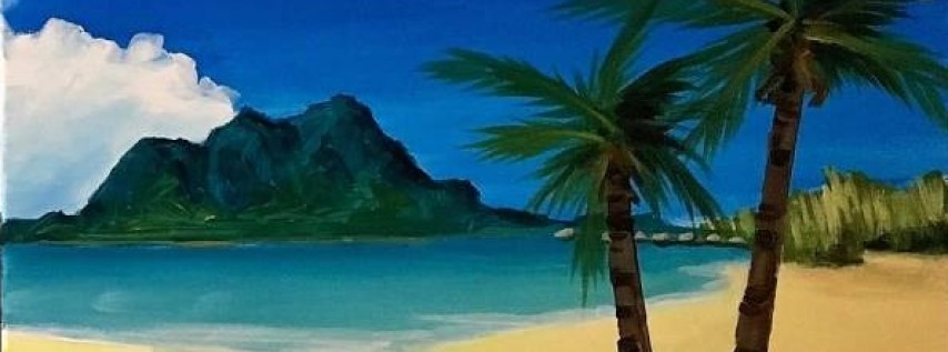 Wine & Canvas Painting Class: Paradise - Right Panel Only