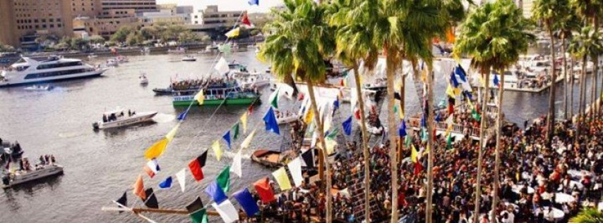 Gasparilla 2018 at the Tampa Riverwalk