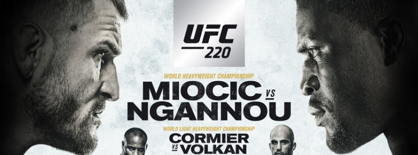 UFC 220 Miocic vs Ngannou at GameTime