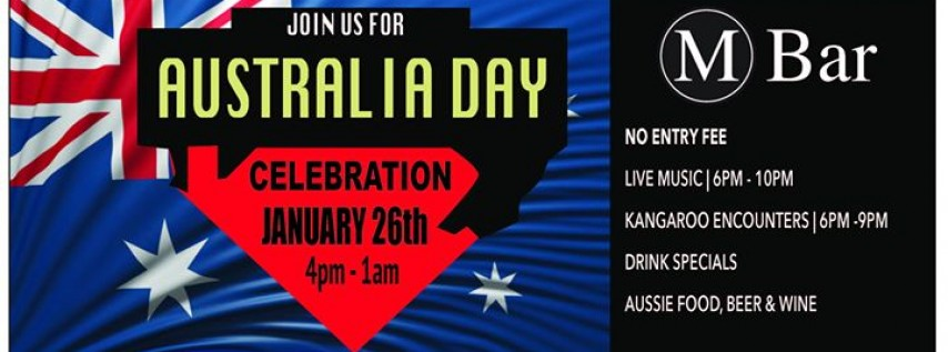 Australia Day at the M Bar!