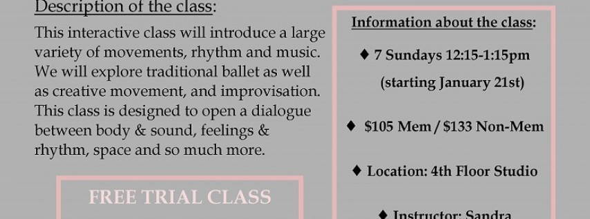 Elements of Ballet Free Trial Class