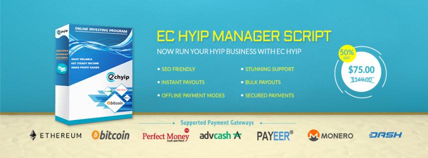 Buy Multi-Featured EC HYIP Script