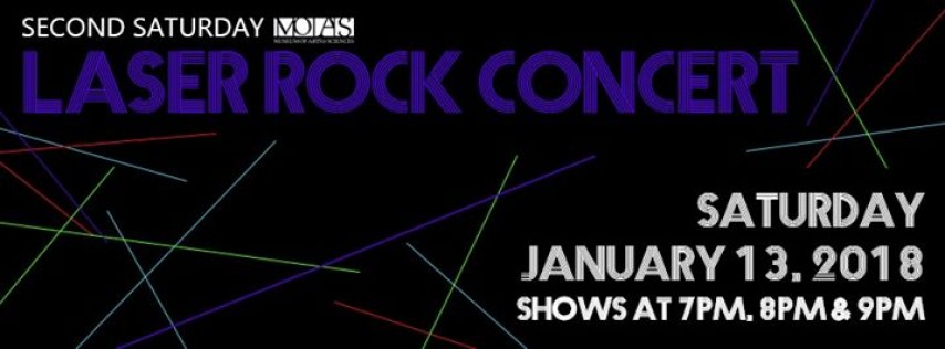 Second Saturday Laser Rock Concert