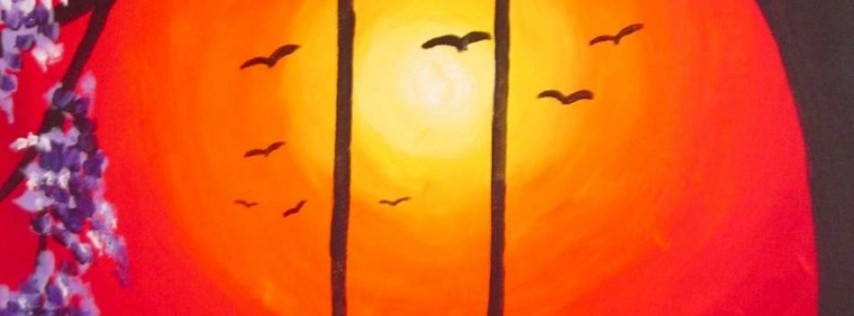 Wine & Canvas Painting Class: Sunset Swing