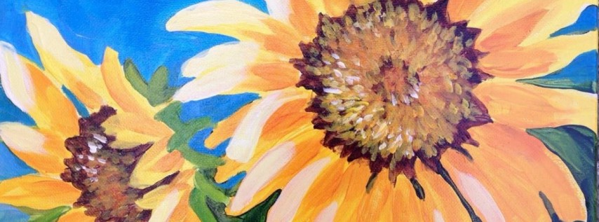 Wine & Canvas Painting Class: Sunflowers