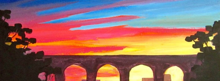 Wine & Canvas Painting Class: Sunset at Cabrillo Bridge