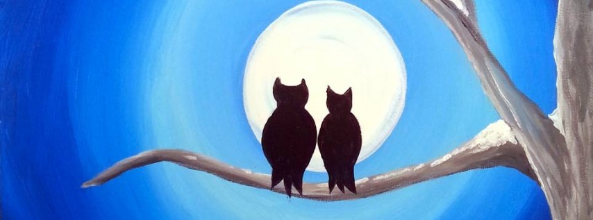 Wine & Canvas Painting Class: Snow Owls