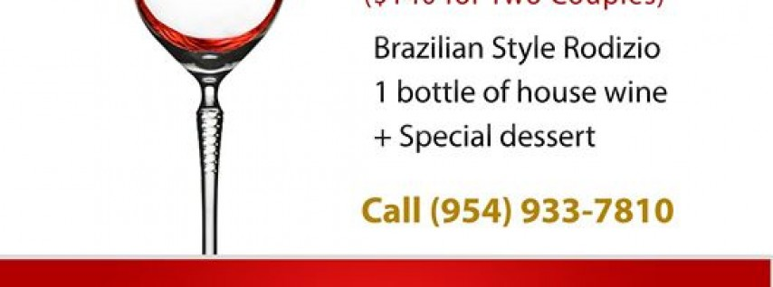 Valentine's Day Special at the The Brazilian Grill
