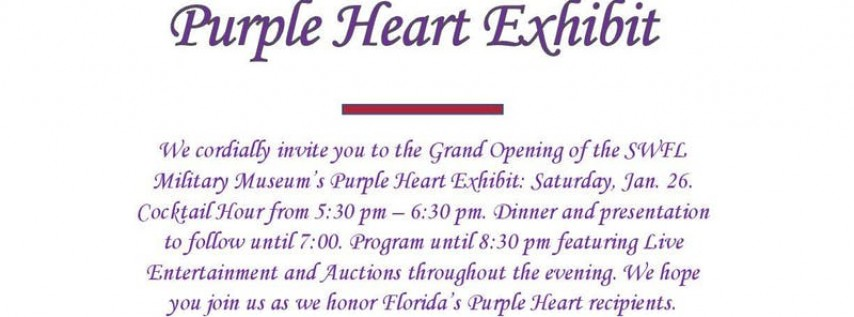 Purple Heart Exhibit Grand Opening
