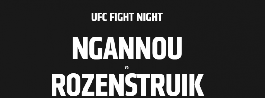 UFC Fight Night: Ngannou vs. Rozenstruik- Watch Party Canceled