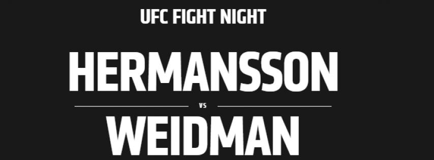 UFC Fight Night: Hermansson vs. Weidman