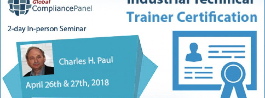 Industrial Technical Trainer Certification 2018