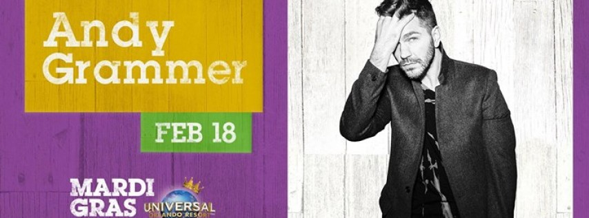 Andy Grammer at Universal Mardi Gras