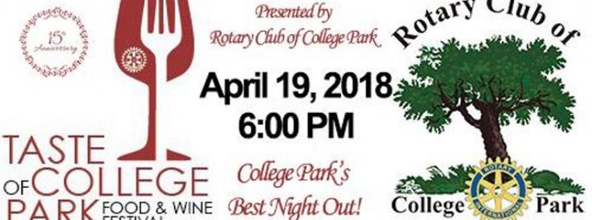 2018 Taste of College Park