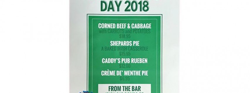 Caddy's Pub St. Patrick's Day 2018