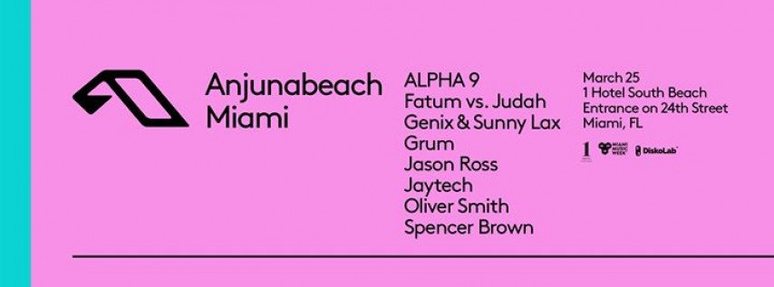 Anjunabeach Miami | Miami Music Week 2018