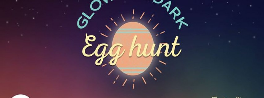 A family glow in the dark egg hunt