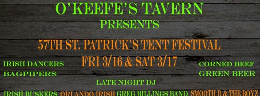 St. Patrick's Festival at O'Keefe's Tavern