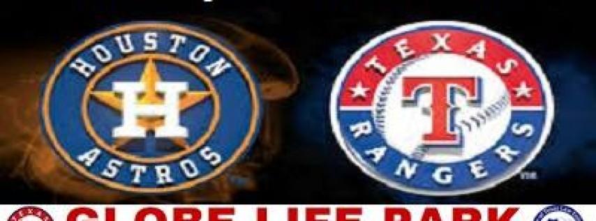 March 29 Season Opener Houston Astros vs Texas Rangers