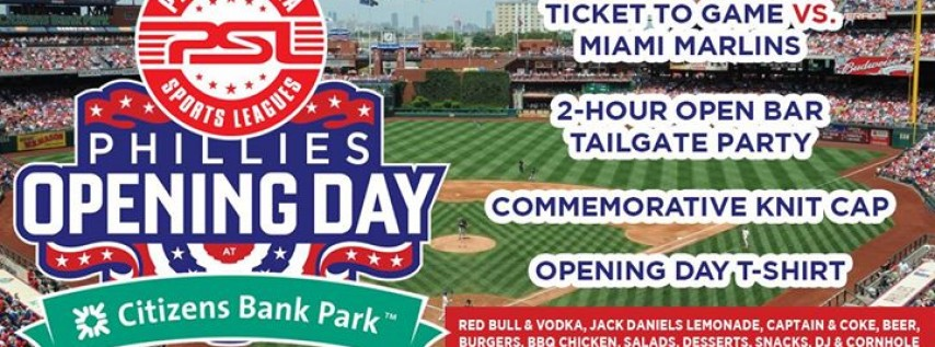 Phillies Home Opener - Tailgate & Game