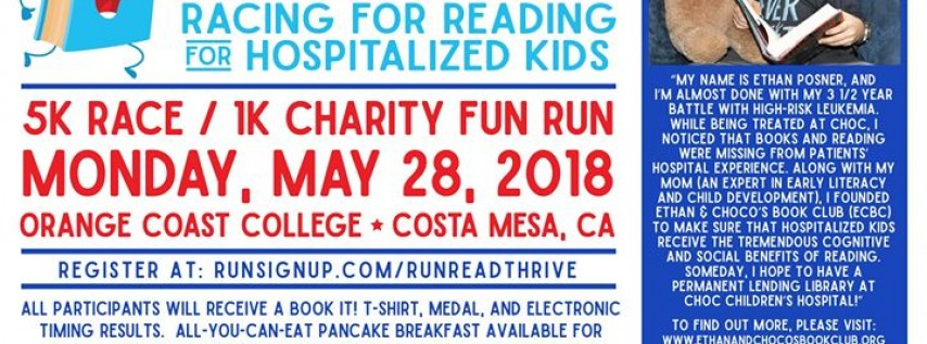 Book It! Racing for Reading for Hospitalized Kids