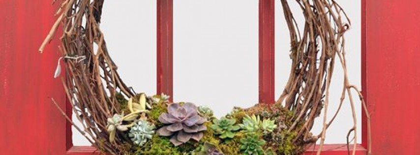 Mother's Day Succulent Grapevine Wreath Workshop