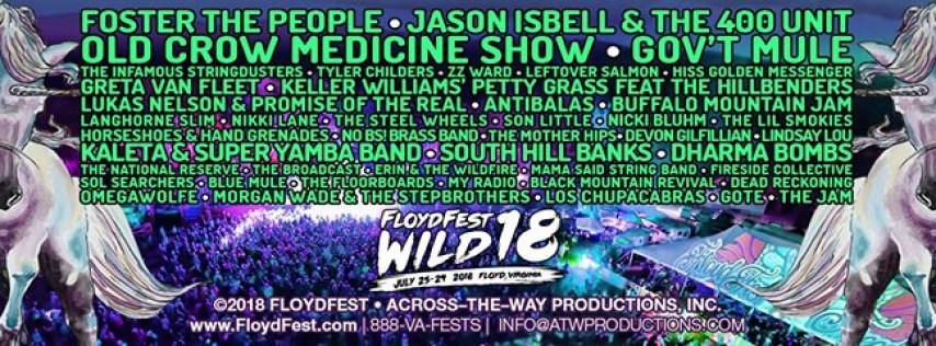 FloydFest 18~Wild (July 25-29, 2018)