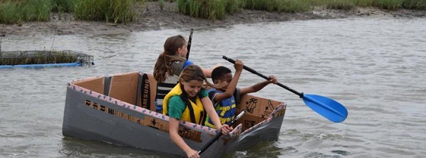Cardboard Boat Race at Lagoonacy