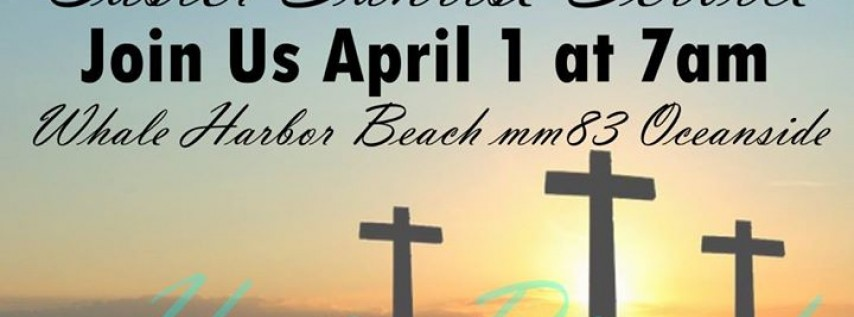 Easter Sunrise Service on the Whale Harbor Beach