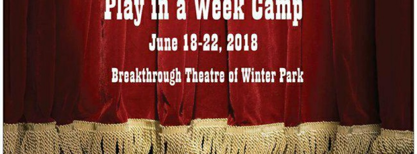 Play in a Week Summer Camp