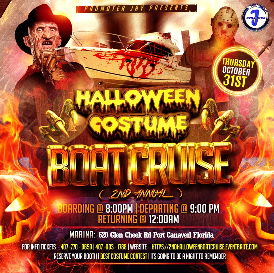 Halloween Costume Boat Party Dinner Cruise