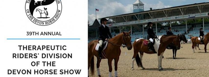 39th Annual Therapeutic Riders' Division of the Devon Horse Show