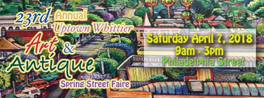 23rd Annual Art & Antique Spring Street Faire - April 7, 2018