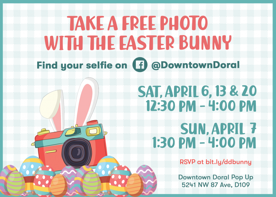FREE Easter Bunny Photos at Downtown Doral