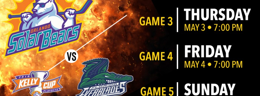 Orlando Solar Bears vs. Florida Everblades — South Division Finals — Game 4
