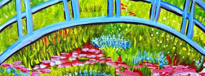 Paint Wine Denver Monet's Garden Sat May 26th 3pm $35