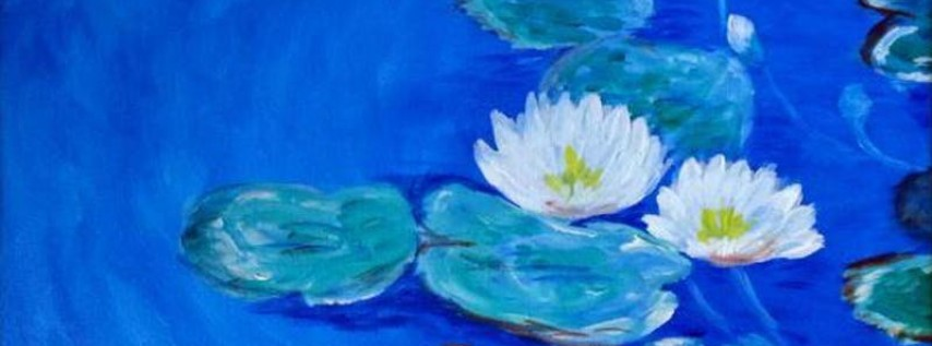 Paint Wine Denver Water Lilies Wed June 6th 6:30pm $35