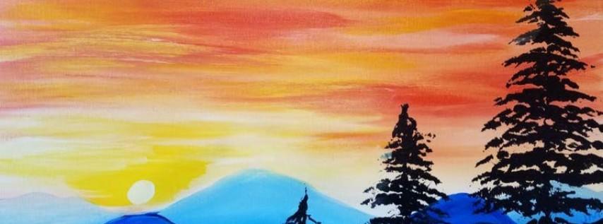 Paint Wine Denver Broncos Sunset Tues June 5th 6:30pm $30