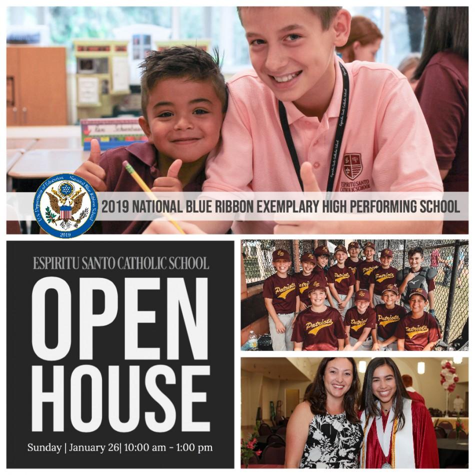 Espiritu Santo Catholic School Open House For Prospective Students (PK3 - 8)