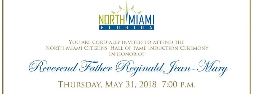 North Miami Citizens' Hall of Fame Induction Ceremony