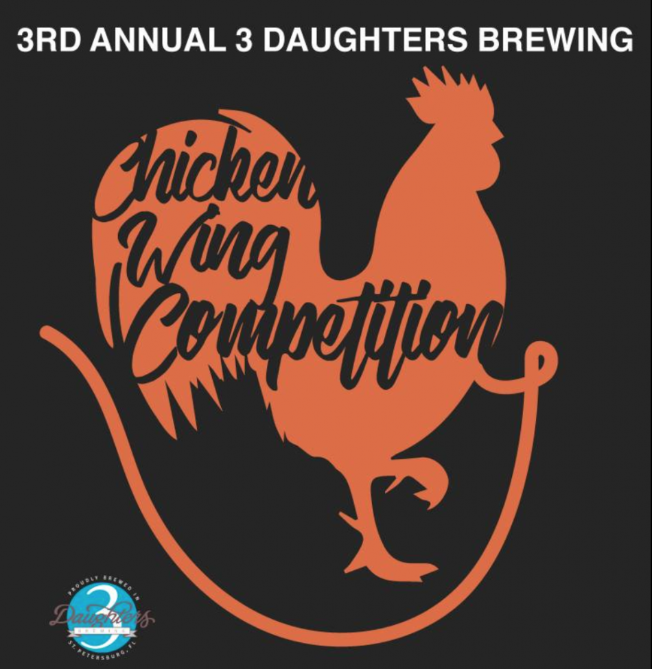 3rd Annual Chicken Wing Competition at 3 Daughters Brewing